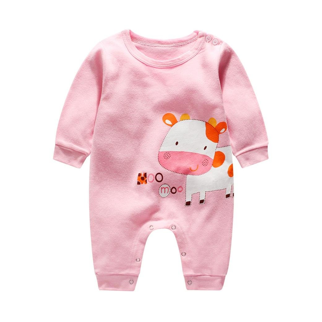 Koly Baby Kids Boy Girl Infant Romper Jumpsuit Bodysuit Cotton Clothes