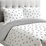 Dance Reversible Full/Queen Duvet Cover Set in White