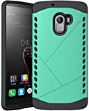 Heartly Hybrid Slim Dual Layer Hard Rugged Armor Bumper Back Case Cover For Lenovo K4 Note - Great Green