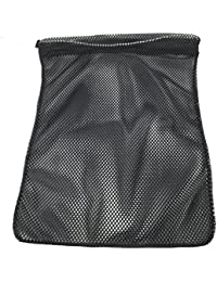 Mesh Bag (Small, Medium, or Large) 550 Paracord Drawstring Bag - Ventilated Washable Reusable Stuff Sack for Laundry, Gym Clothes, Swimming, Camping, Diving, Travel (14 Colors)