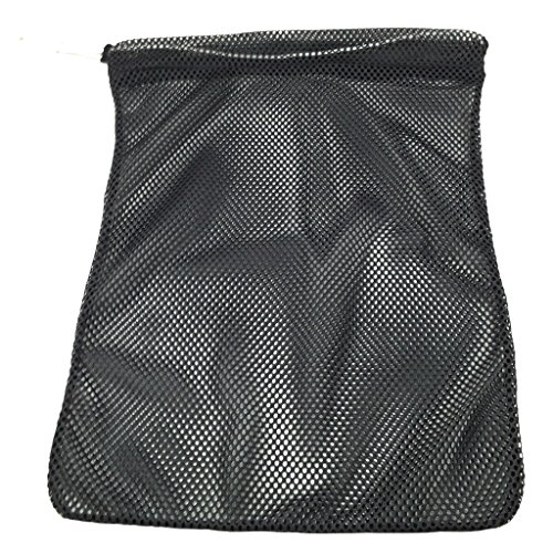 - SGT KNOTS Mesh Bag USA Made (Small) 550 Paracord Drawstring Bag - Ventilated Washable Reusable Stuff Sack for Laundry, Gym Clothes, Swimming, Camping, Diving, Travel (12 inch x 15 inch - Black)