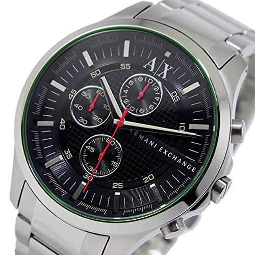 1a6ca0ed5d28 Armani Exchange Men s Silver Chronograph Steel Bracelet   Fechas AX2163  Watch Case