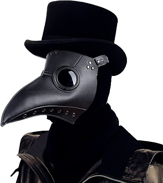 7c4ba712de Raxwalker Plague Doctor Bird Mask Long Nose Beak Cosplay Steampunk Halloween  Costume Props (Black)
