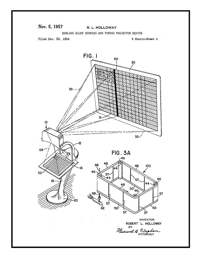 Amazon Com Bowling Alley Scoring And Timing Projector Device Patent