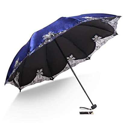 Travel Umbrella UV Protection Manual Windproof Rainproof Compact Folding Lightweight for Easy to Carry Men and