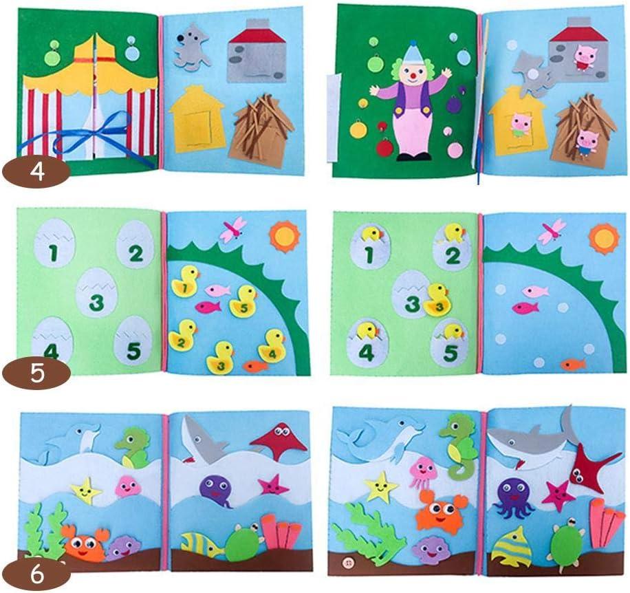 WXGY DIY Livre pour b/éb/é pour l/éducation pr/écoce Intelligence D/éveloppement Cadeau pour Votre b/éb/é Unique A//My First Book