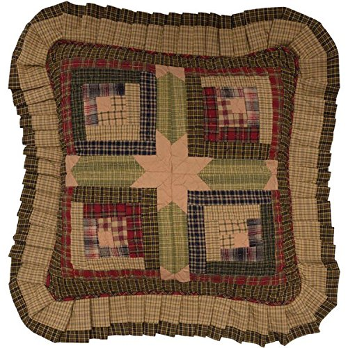 (VHC Brands Rustic & Lodge Pillows & Throws - Tea Cabin Green Quilted 16