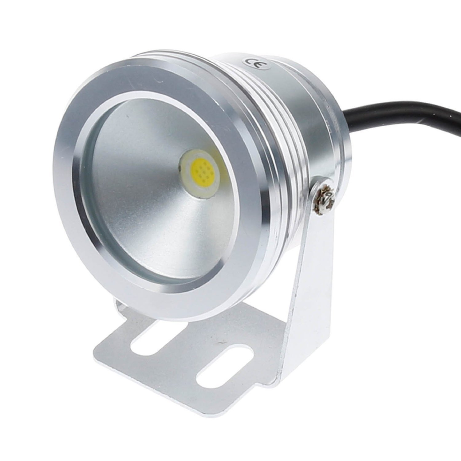 Pinjia 10w 12v Silver Waterproof IP67 LED Underwater Landscape Fountain Pond Pool Tank Lamp Warm White by PINJIA (Image #1)