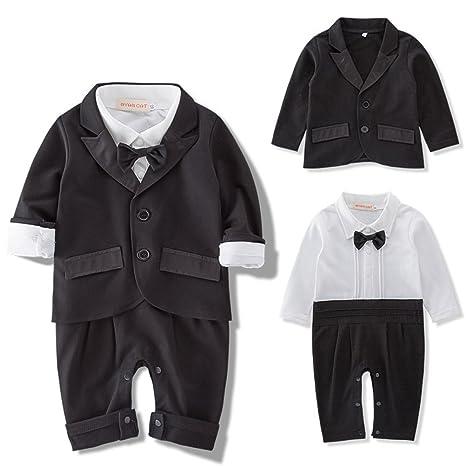 bc4fc4019 Amazon.com  ARAUS Baby Boy Gentleman Suit Bodysuit + Blazer Tuxedo ...