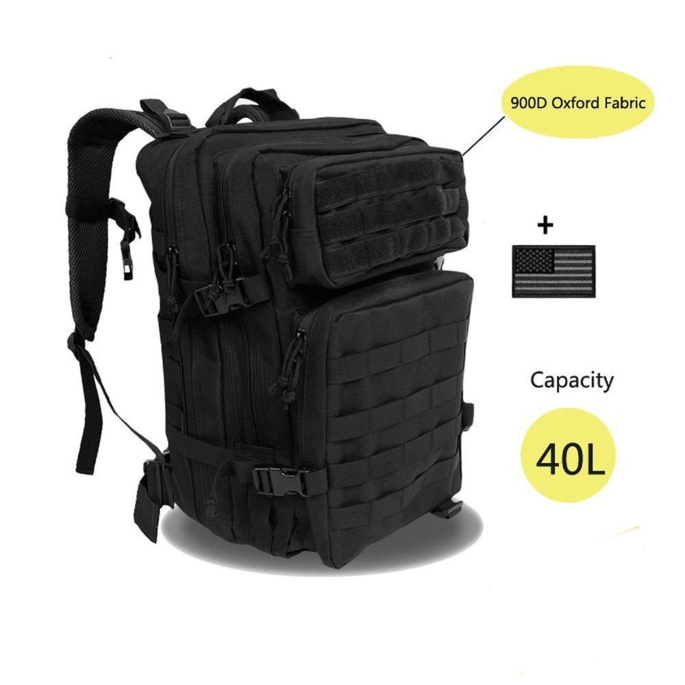 Large Military TacticalバックパックArmy 3 Day Assault Pack MOLLE Gearバグアウトバッグ   B07CWFWHJD