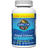 Garden of Life Whole Food Probiotic Supplement, Primal Defense Hso Probiotic Dietary Supplement for Digestive and Gut Health,