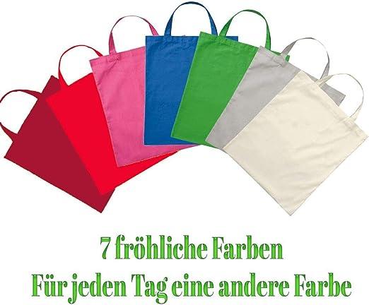 7 STK. Premium algodón bolso bolsa de tela bolsa bolso de asa ...