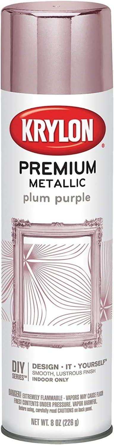 Krylon Premium Metallic Spray Paint Resembles Actual Plating, Plum Purple