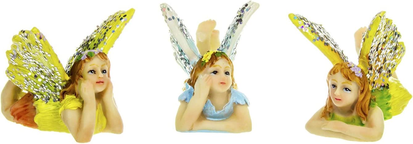 Darice Yard and Garden Minis - Flying Fairy - 1.25 x 1.5 inches - 3 Assorted