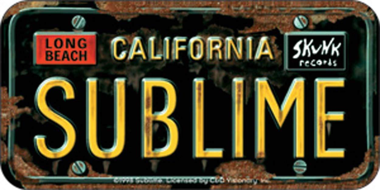 SUBLIME Logo License licenza Plate piastra Mini Replica STICKER ADESIVO Sticker DECAL Officially Licensed CLASSIC ROCK Artwork