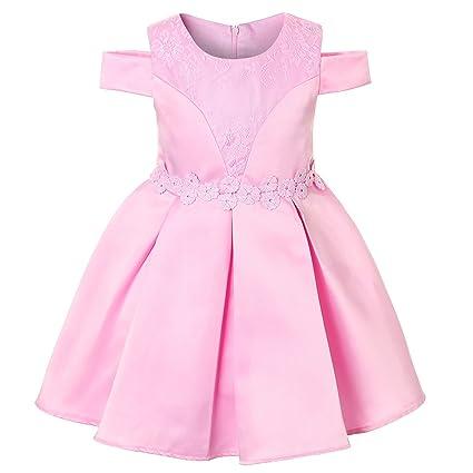 GHTWJJ Vestidos De Noche para Niñas Niñas Prom Vestidos De Princesa para La Boda Hijos Fuera