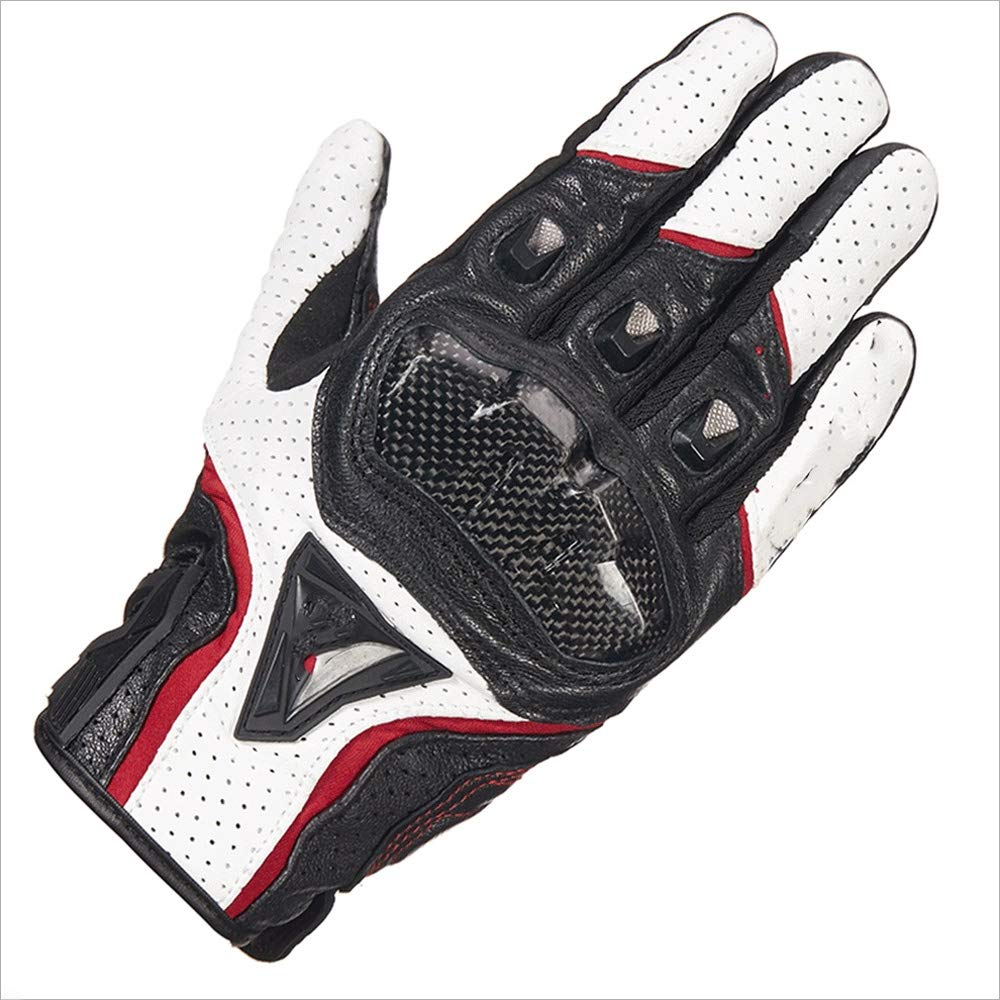 ZDYLL Unisex Outdoor Gel Touch Screen Cycling Gloves Bike Bicycle MTB DH Downhill Off Road Glove (Color : White red, Size : M) by ZDYLL