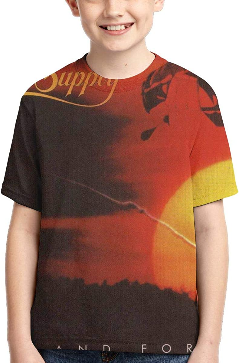 BowersJ Kids Air Supply Now and Forever Design 3D Printed Short Sleeve Tees for Girls /& Boys Black