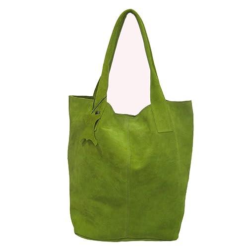 467e6e2e4 La Auténtica BAG1 - Bolso serraje afelpado pistacho: Amazon.es: Zapatos y  complementos