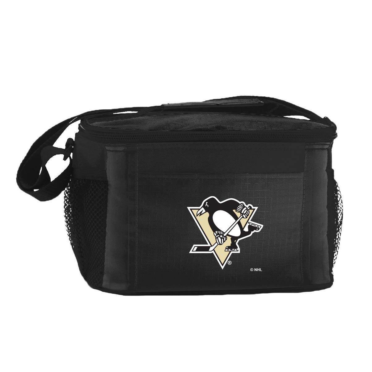 NHL Pittsburgh Penguins Team Logo 6 Can Cooler Bag or Lunch Box - Black
