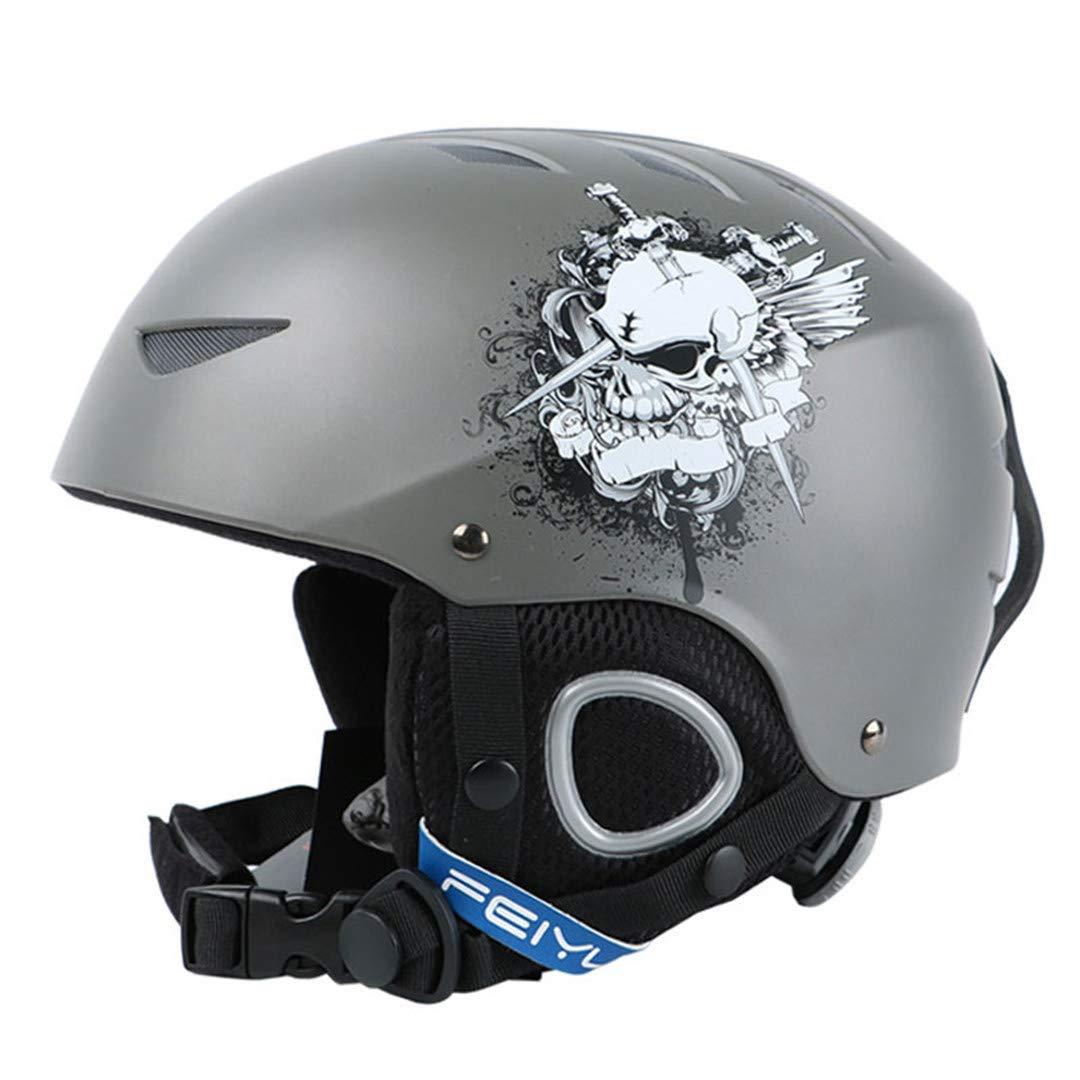 スキー用ヘルメット 新しいワンピースハイエンドキッズスキーヘルメットエクストリームスポーツ保護具のベニヤダブルプレート暖かい風の雪のヘルメット子供 B07PM2DHJG Medium|Grey Grey Medium