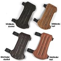 elToro Traditioneller Armschutz Kurz aus Leder - Glattleder dunkel