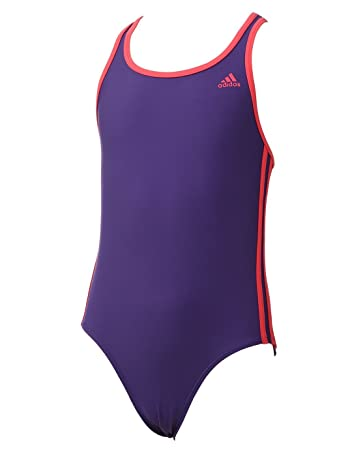58ae225cfc adidas Girl's Infinitex 3-Stripes 1-Piece Swimsuit - Unity Purple F16/Shock