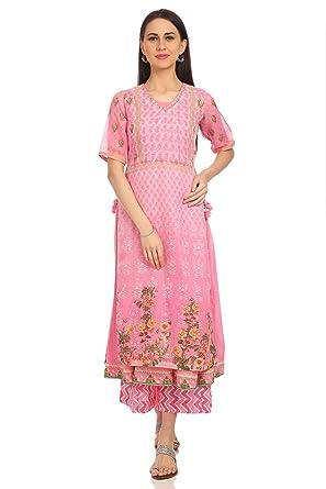 06d62bc2f BIBA Women s Synthetic Anarkali Kurta  Amazon.in  Clothing   Accessories