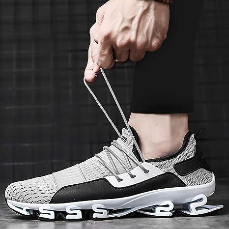 beautyjourney Zapatilla de Deporte para Hombre Mosca Tejida Zapatos para Correr Zapatos Deportivos Ligeros Transpirables Zapatos Casuales Antideslizantes: Amazon.es: Ropa y accesorios