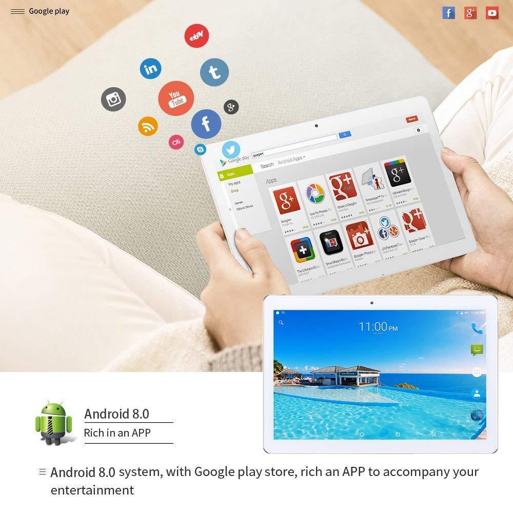 Teléfono con Tableta de 10 Pulgadas, PC con Tableta de 8 núcleos, Android 9.0, Octa Core, 1920x1200 IPS, 4 GB de RAM, 64 GB de ROM, 3G 4G LTE Doble ...