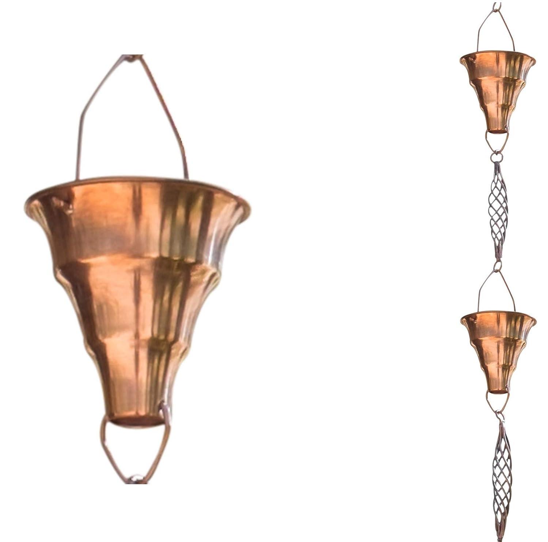 Monarch Pure Copper Tara Rain Chain, 8-1/2-Feet Length Monarch Int'l Inc. 10009