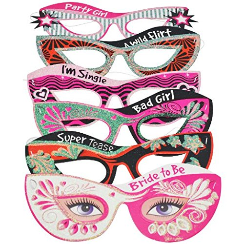 Bachelorette Party Masquerade Masks Set of 6--Perfect Party Favors for the Bride to Be!!! -