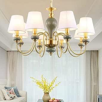 Todos los candelabros de cobre estadounidense Continental sencilla sala atmosférica dormitorio araña de punto de luz moderna al por mayor restaurante, banda para la cabeza cubierta 10 + 5, 5 vatios LE: Amazon.es: Iluminación