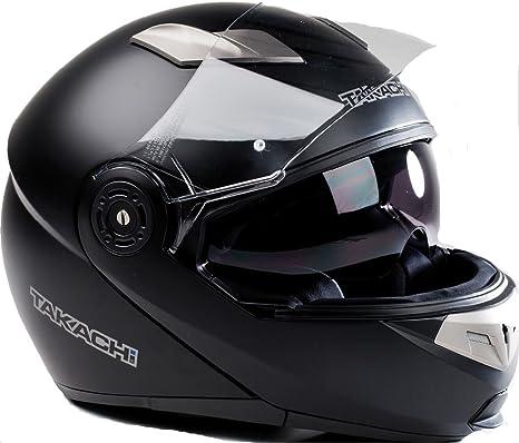 TK380 Moto Casco Casco Moto Casco Negro – mate takachi Talla XS – XXL negro mate