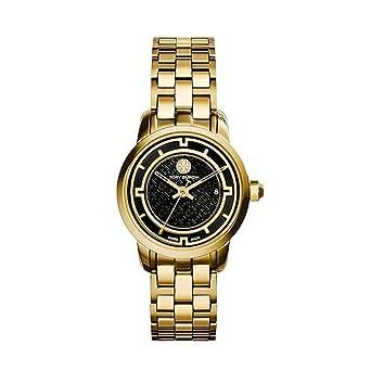 9339bcca2d4 Amazon.com  Tory Burch Women s Tory - TRB1024 Gold Black One Size  Tory  Burch  Watches