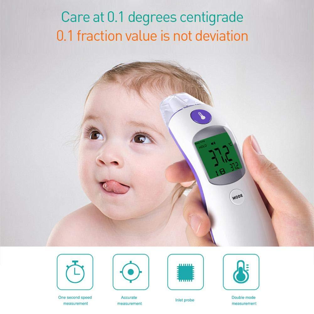 und Ohrthermometer f/ür Fieber-Digital-S/äuglingspflegethermometer starter Baby-Thermometer Stirn