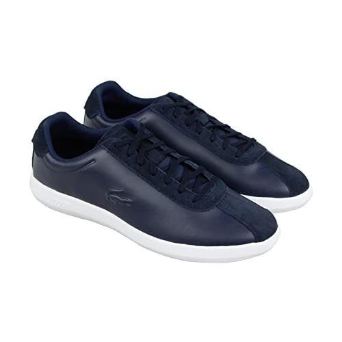 97f2778e1f2b Lacoste Men s Avance 318 2 SPM Blue Leather Lace Up Sneakers Shoes 10 ...