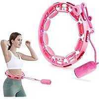 FCXJTU Weighted Smart Hoola Hoops, Adjustable Abdomen Fitness Exercise Massage Hula Smart Hoops, 14 Detachable Knots…