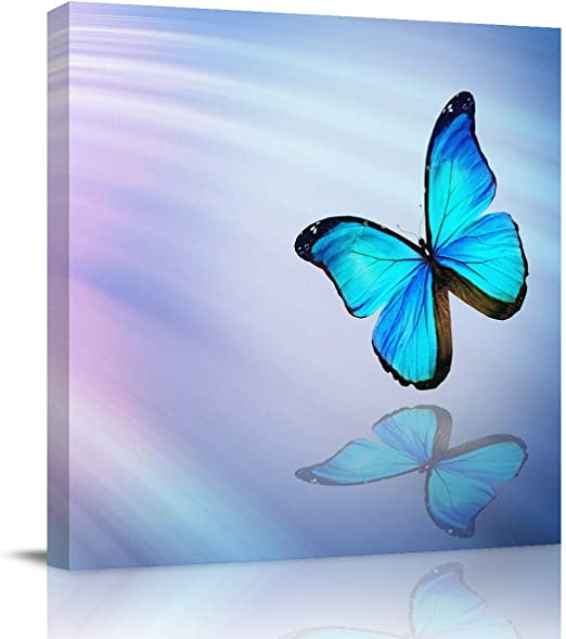 Canvas Art Design Abstract Butterfly Canvas Print Wall Art Painting Picture for Home Office Decor Modern Fashion Artwork Stretched Framed Ready to Hang