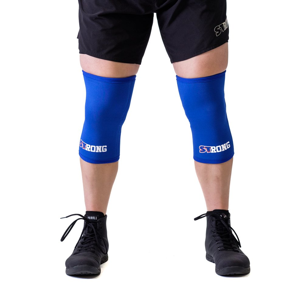 Sling Shot Mark Bell Strong Knee Sleeves, Blue, XS