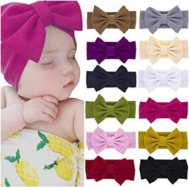Lot 2 FREE SIZE Self-Tie Nylon Headbands Newborn Infant Baby Toddler Girls Moms