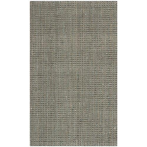 Hand Woven Jute Natural Rug (Safavieh Natural Fiber Collection NF730B Hand Woven Grey Jute Area Rug (3' x 5'))