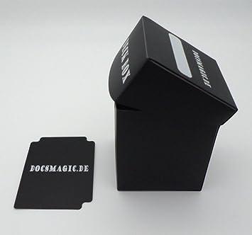 docsmagic.de Deck Box Big (100+) Black + Card Divider - Caja Negra - PKM - YGO - MTG: Amazon.es: Juguetes y juegos