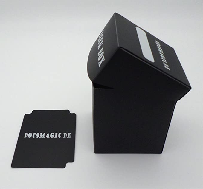 docsmagic.de Deck Box Big (100+) Black + Card Divider - Caja ...
