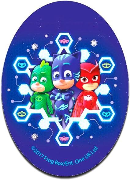 PJ Masks Héroes en pijamas Grupo Disney - Parches termoadhesivos bordados aplique para ropa, tamaño: 11 x 8 cm