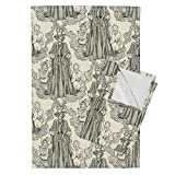 Roostery Steampunk Tea Towels Nanny Toggleswitch by Ceanirminger Set of 2 Linen Cotton Tea Towels