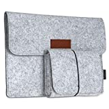 """dodocool 12 Inch Laptop Sleeve Felt Envelope Cover Ultrabook Carrying Case Notebook Protective Bag with Mouse Pouch for 12"""" Apple MacBook / 11"""" MacBook Air /12"""" Surface Pro 3"""
