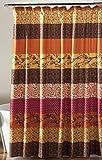 "Lush Decor Royal Empire Shower Curtain, Tangerine, 72 x 72"""