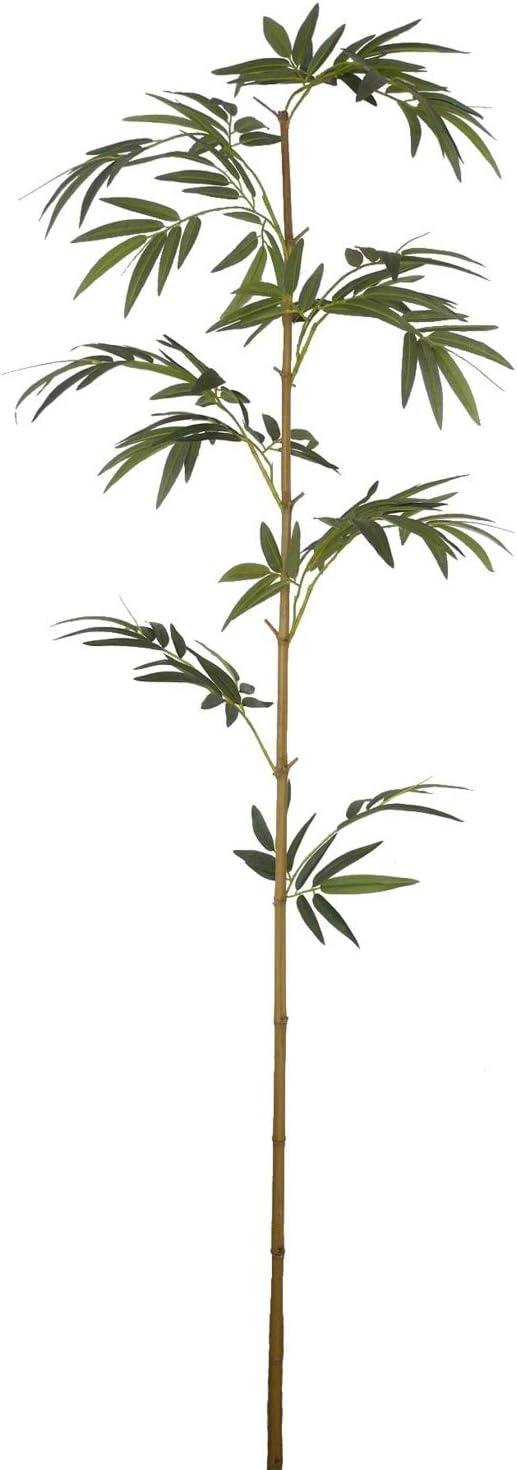Seidenblumen Ro/ß 12 St/ück Bambusrohr//Bambusstange mit Bl/ättern 210cm DA k/ünstlicher Bambus Restposten