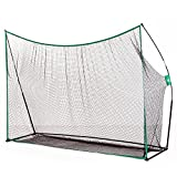 Aosom 10x7ft Golf Practice Net Golf Hitting Chipping Netting Portable Swing Training Aids in/Outdoor with Carry Bag